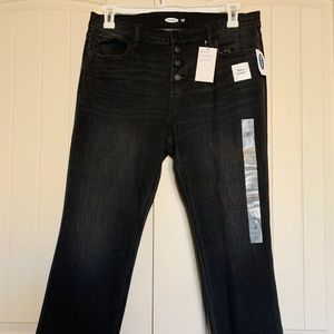 14 Old Navy Dark Grey Flare Ankle Jeans